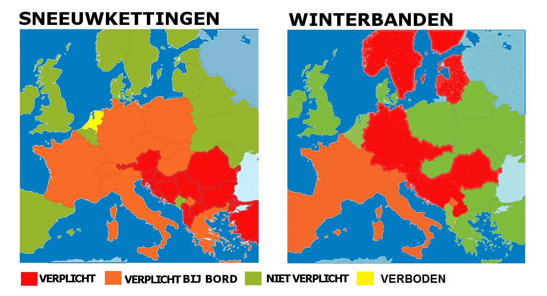Sneeuwkettingen of winterbanden?